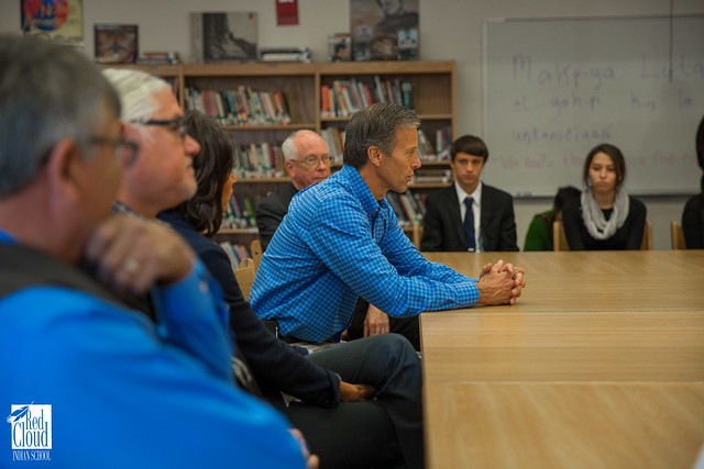South Dakota's Senator and Representative visit campus.