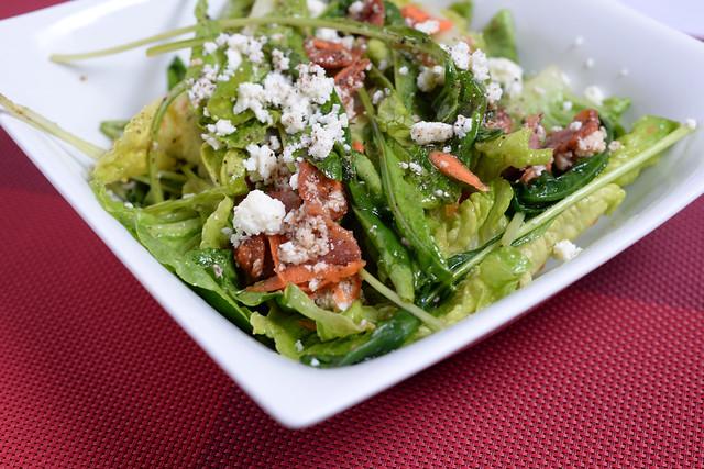 Arugula Salad with Warm Bacon Vinaigrette