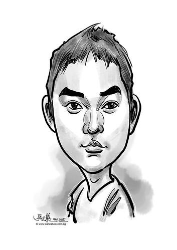 digital caricature for eBay - KIM, CHOONGIL