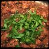 #Homemade Mini #Meatballs & #Mushrooms #CucinaDelloZio - flat-leaf parsley