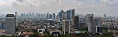 Jakarta city centre from Monas