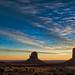 Sunrise on Monument Valley