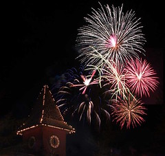 Fireworks over Clocktower (Mount Snow)