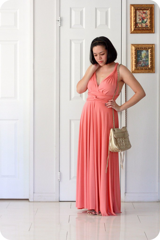 Swap & Style with Henkaa: Sakura Convertible Infinity Maxi Dress in Coral featuring The Demure Muse & Sweets and Hearts