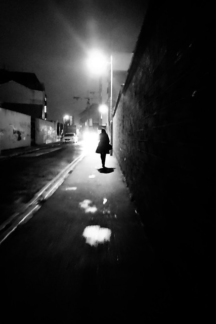 Walking alone - Dublin, Ireland - Black and white mobile street photography