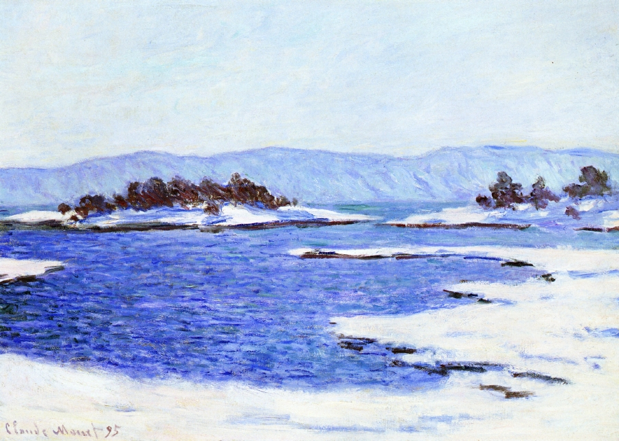 The Banks of the Fjord at Christiania by Claude Oscar Monet - 1895