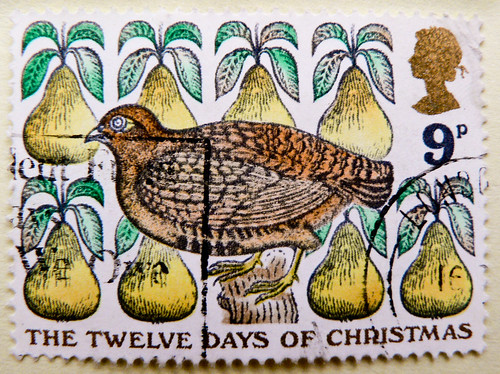 Twelve Days of Christmas 9p stamp