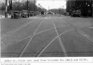 St Clair Avenue, east from Bathurst Street