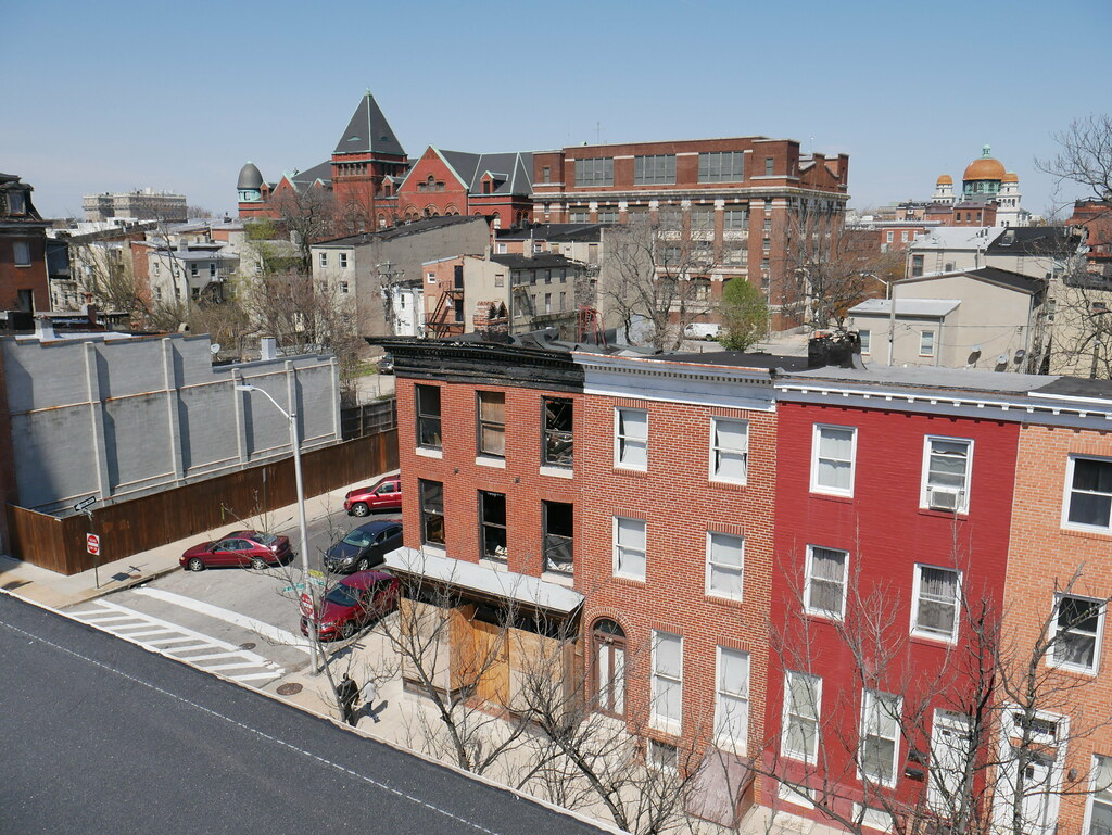 View from the roof of 1230 Druid Hill Avenue, Baltimore, MD 21217