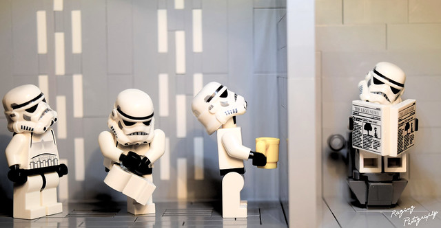 Bathroom line on the Death Star