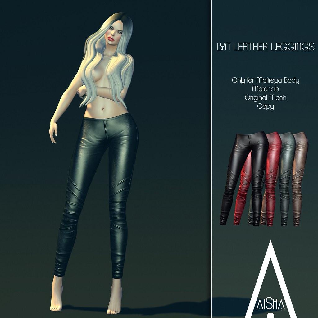 AiShA Lyn leather leggings @ We <3 Roleplay - SecondLifeHub.com