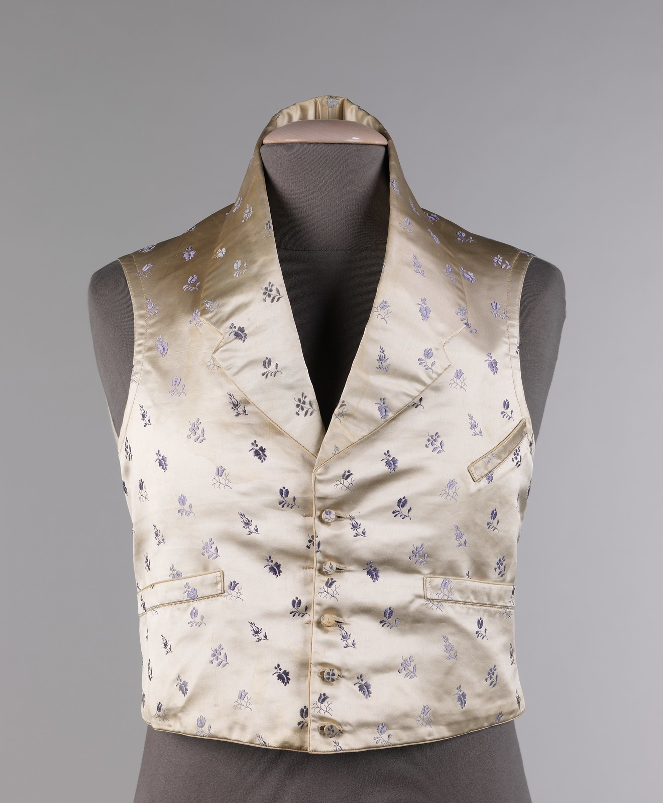1830. American. silk, cotton. metmuseum