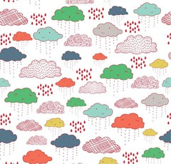 Greatest Adventure Clouds Fabric