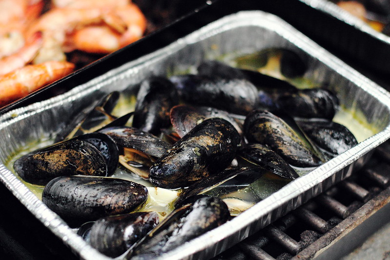 Sunday Dinner: Smoky, Grilled Mussels