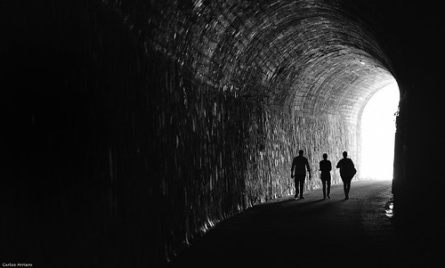 At the end of the tunnel.