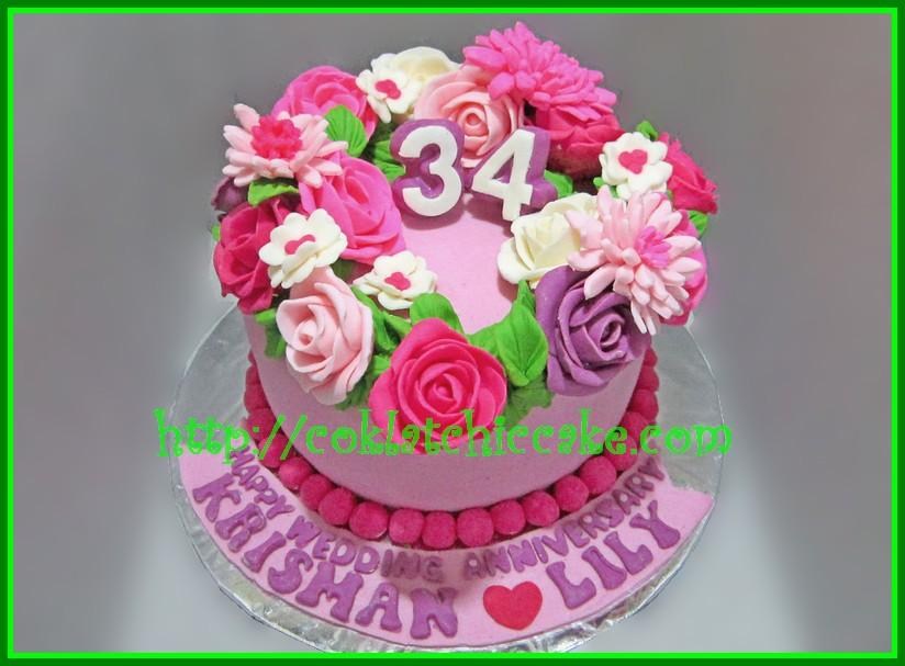 cake bunga krisman jual kue ulang tahun