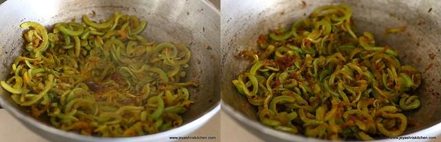 snake- gourd fry