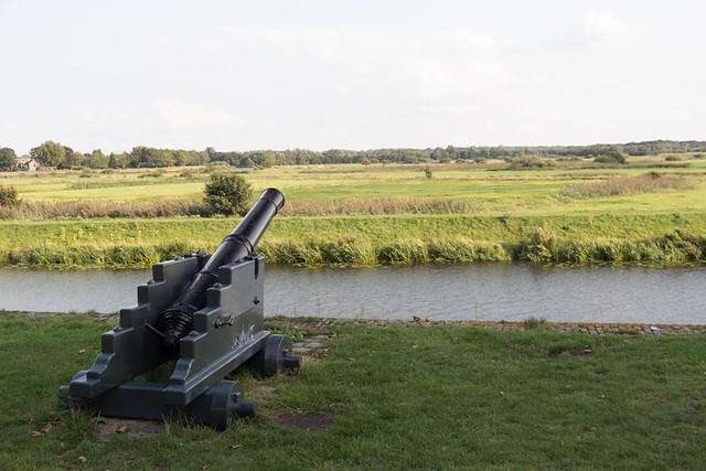 cannon aimed at countryside