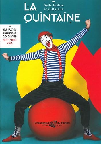 LA QUINTAINE 2015 -  couverture programme 2015 - Chasseneuil du Poitou - VIENNE 86 - FRANCE