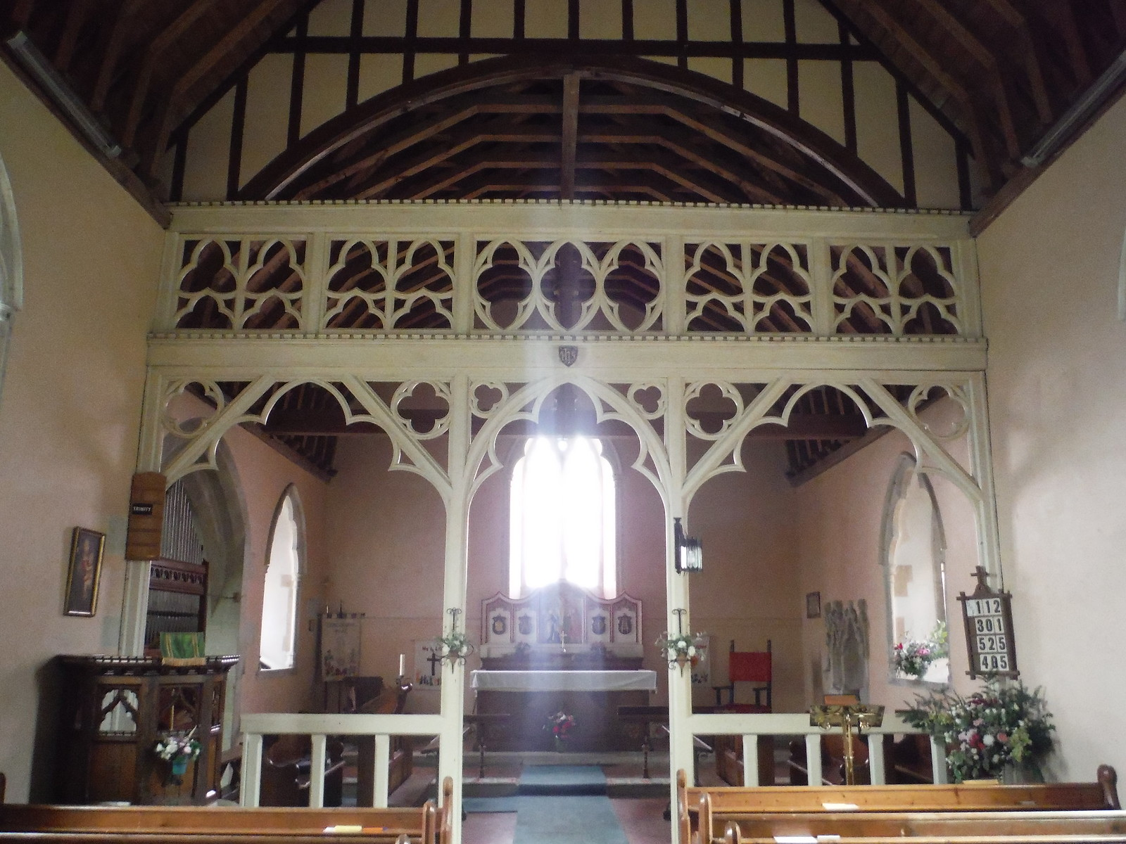 St. John the Baptist, Ebbesbourne Wake, Interior SWC Walk 250 Tisbury Circular via Alvediston