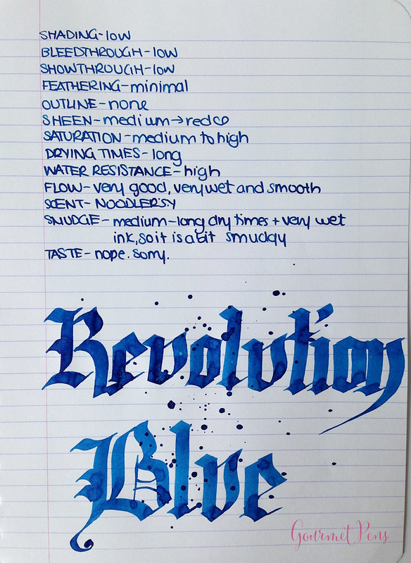 Ink Shot Review Noodler's Revolution Blue @GoldspotPens @CarolLuxury (4)
