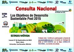 #Mérida: CONSULTA NACIONAL OBJETIVOS DE DESARROLLO SUSTENTABLE #POST2015 @uniandesac