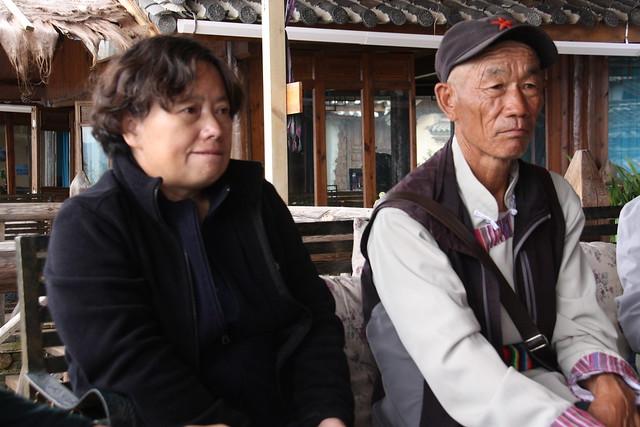 孫敏與阿六叔。攝影:詹嘉紋。