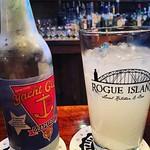 @yachtclubsoda Grapefruit, Fresh Lime Juice, & Mescal In Proper Glassware @rogueisland #tequila #mescal #supportlocal #yachtclub #rogueisland #grapefruit