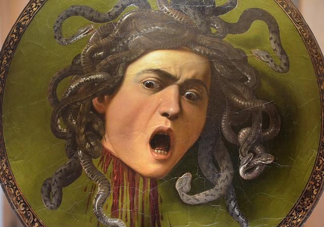 Medusa by Caravaggio, 1597, Galleria degli Uffizi