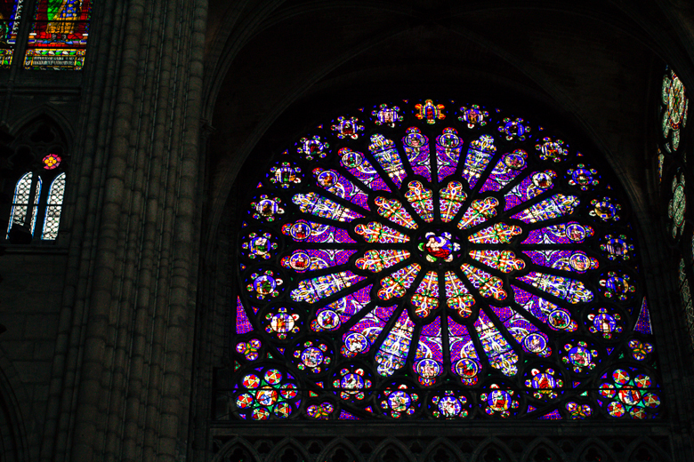 rose window, st denis