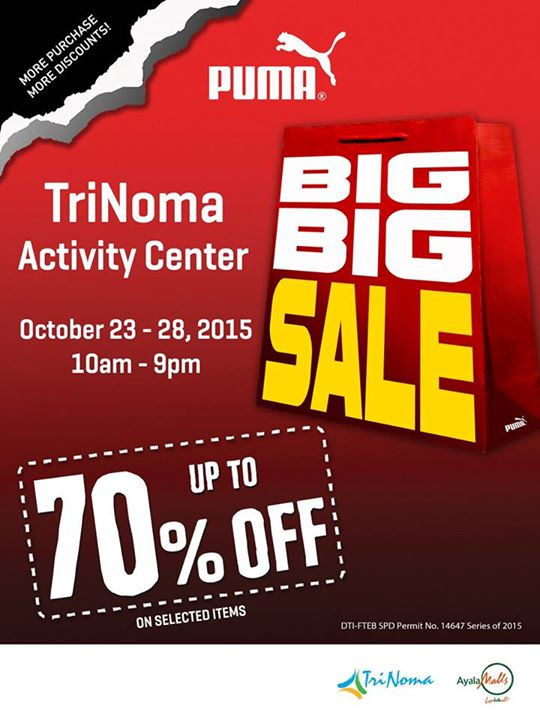 puma big big sale trinoma activity center