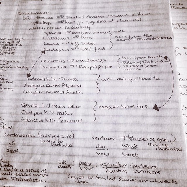 More Obsessive Note Taking #throwbacktocollege #notes #notebooks