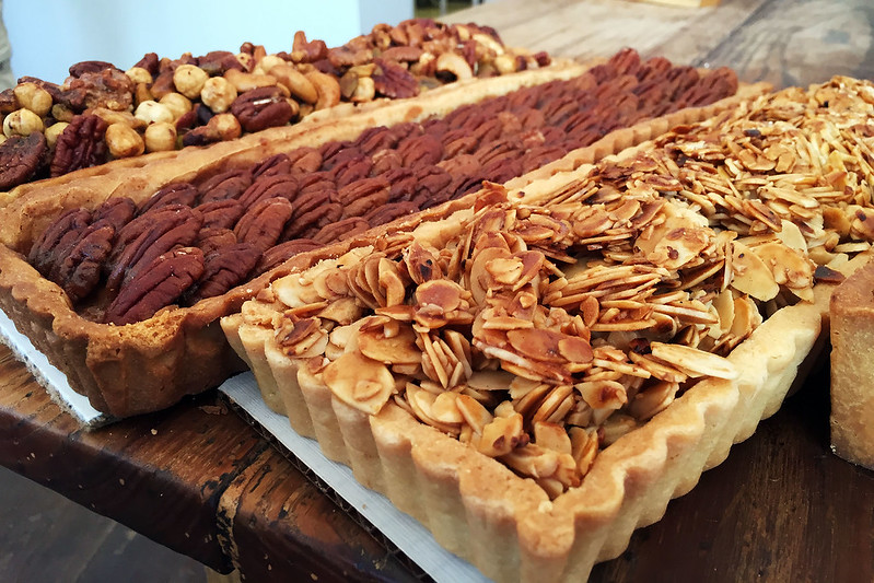 Almond and pecan tarts
