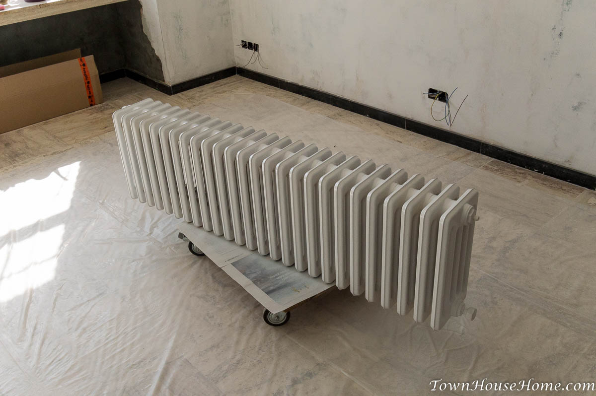 Radiator repainted