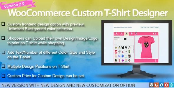 WooCommerce Custom T-Shirt Designer v2.0.5