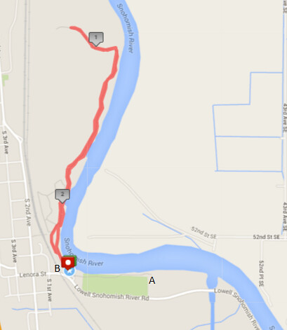 Today's awesome walk, 2.3 miles in 42 minutes, 4,955 steps