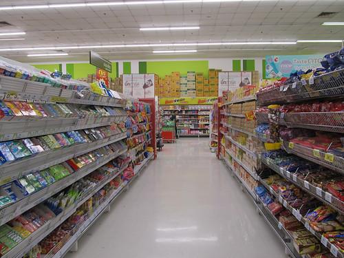 Chiang Rai: le Big C (ancien Carrefour). Après plus de 2 mois, enfin un vrai grand supermarché.