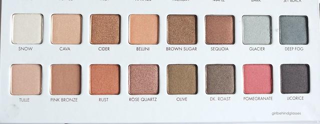 Lorac Mega Pro 3 Palette shimmer shades