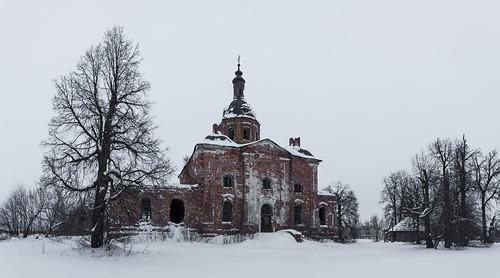 cathedral landscape russia church nature orthodox frost winter ryazanregion rural outdoor villiage snow catedral landscapes outdoors saltykovo ryazanskayaoblast ru
