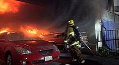 LAFD Quickly Tackles NoHo Carport Fire