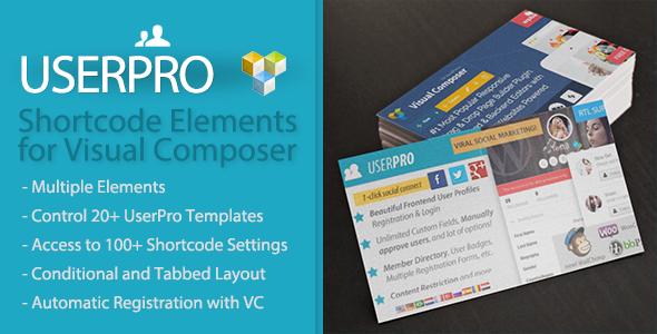 UserPro Shortcode Elements for Visual Composer v1.1.2