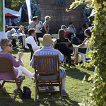 Chilling in Charlotte Square Gardens | Visitors enjoy the sunshine in the Gardens © Helen Jones