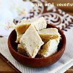 Cashew coconut burfi