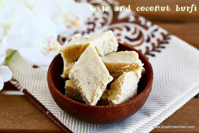 Coconut -cashew burfi