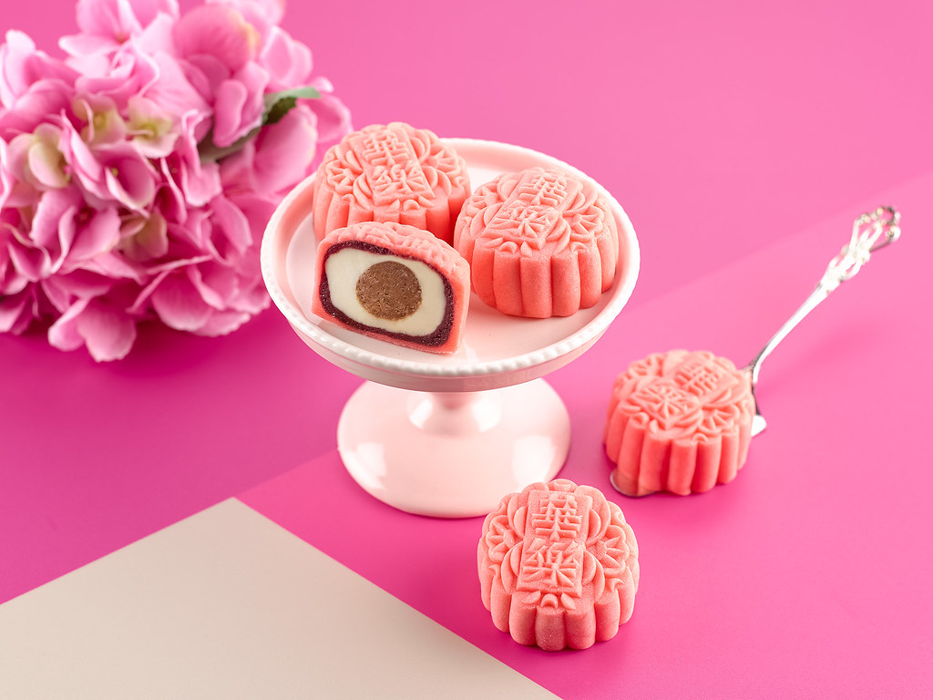 Mini Red Velvet Snowskin Mooncakes: Carlton