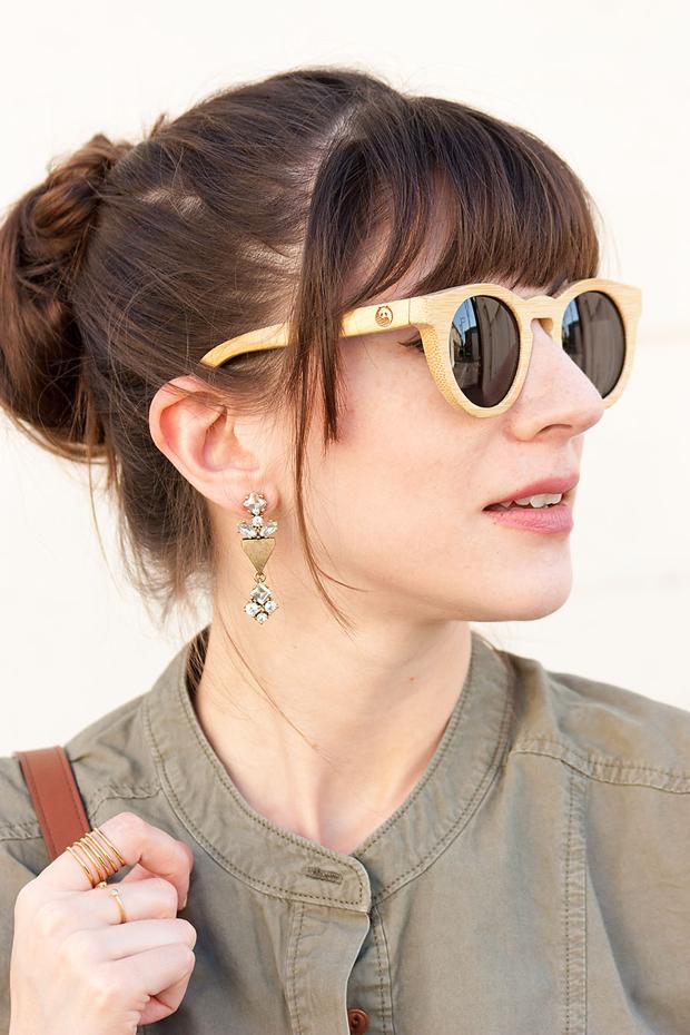 Panda Sunglasses, Statement Earrings, Stella and Dot Maylee Ring