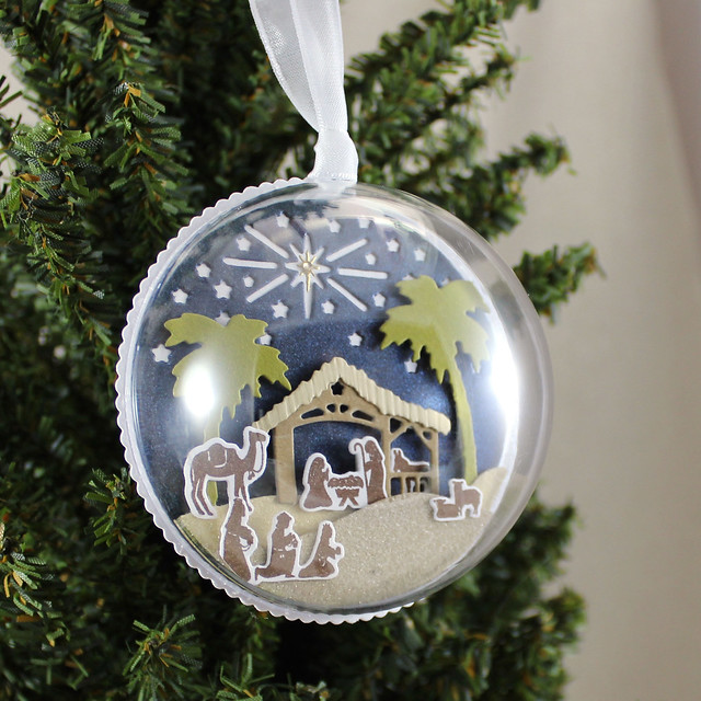 Nativity Ornament On Tree