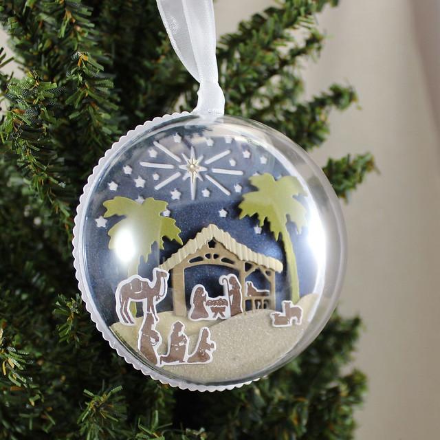 Nativity Ornament On Tree