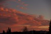 Another great display of colorful eveing clouds. I was hopeing they cleared to catch the Supermoon Eclipse, but no such luck this time around.