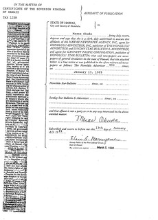 1 - Affidavit of Publication